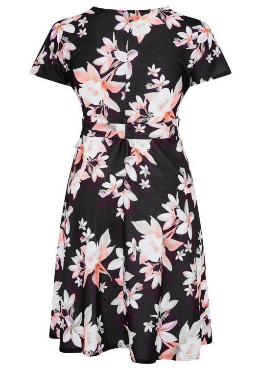 YOURS LONDON Black Floral Wrap Midi Dress_BK.jpg