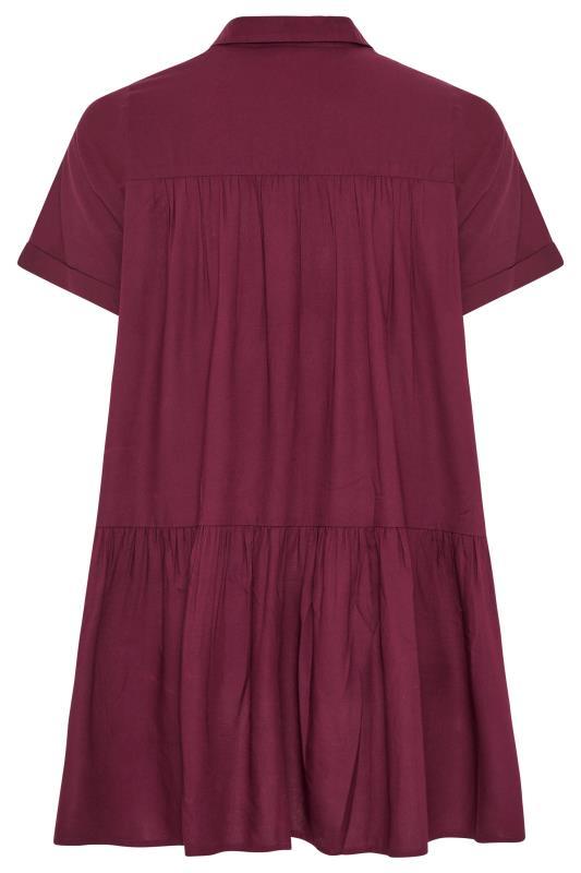 Burgundy Tiered Smock Longline Shirt_BK.jpg