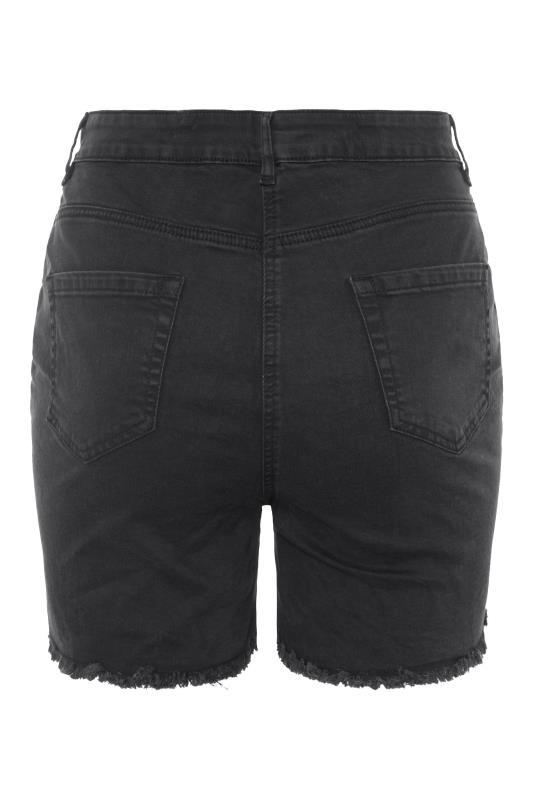 Washed Black Ripped Denim Mom Shorts_BK.jpg