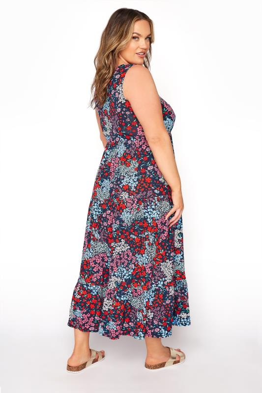 YOURS LONDON Navy Wide Strap Tiered Maxi Dress_C.jpg