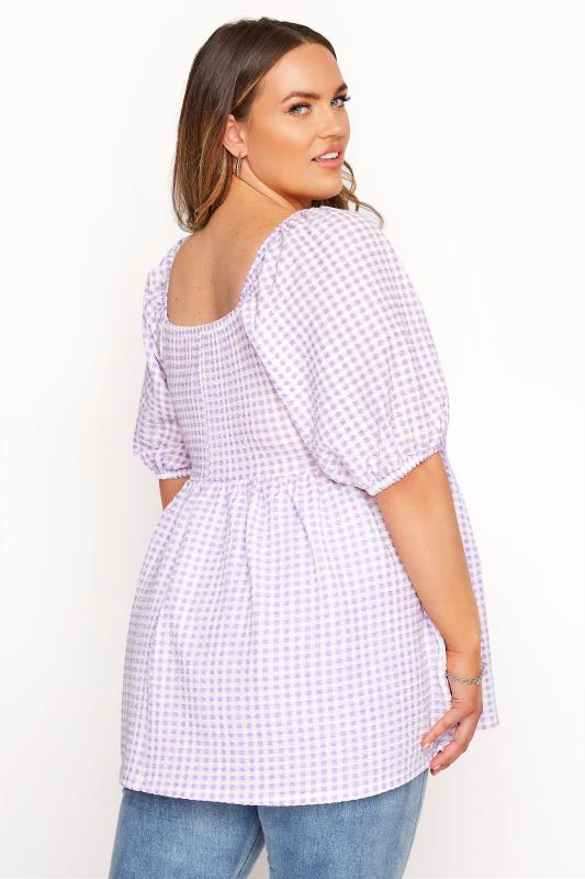 LIMITED COLLECTION Lilac Gingham Milkmaid Top_C.jpg