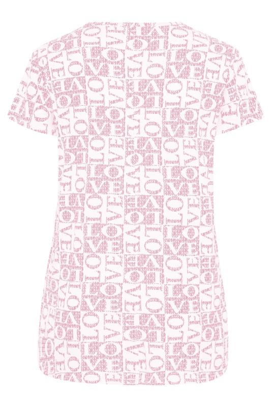 LIMITED COLLECTION Pink 'Love' Printed T-Shirt_BK.jpg