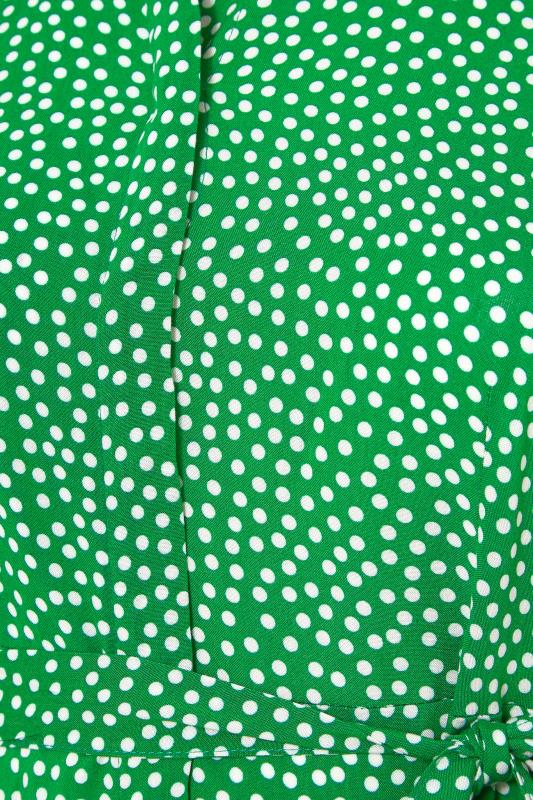 THE LIMITED EDIT Green Polka Dot Shirt Mini Dress_S.jpg