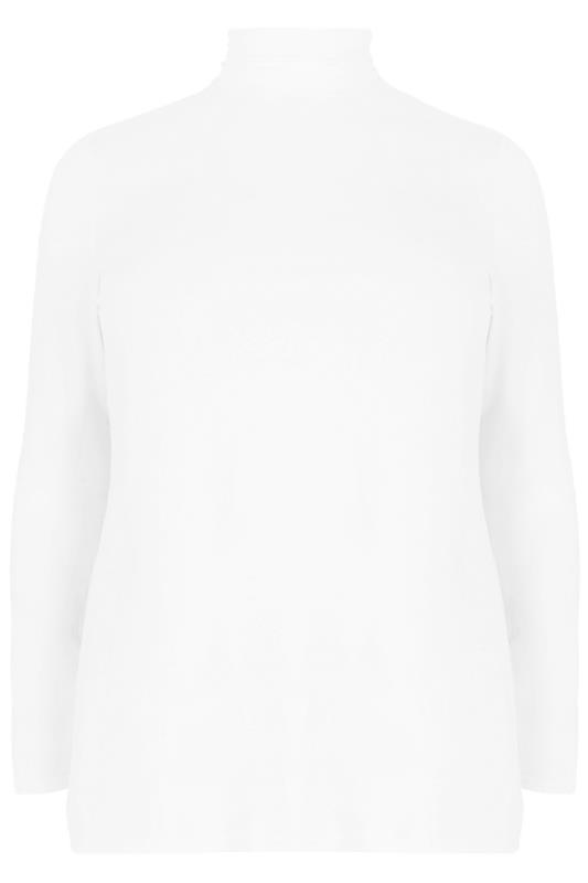 Cream Roll Neck Jersey Top