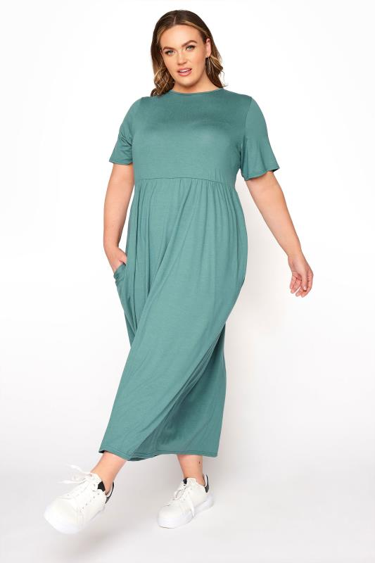 Plus Size  LIMITED COLLECTION Sage Throw On Maxi Dress