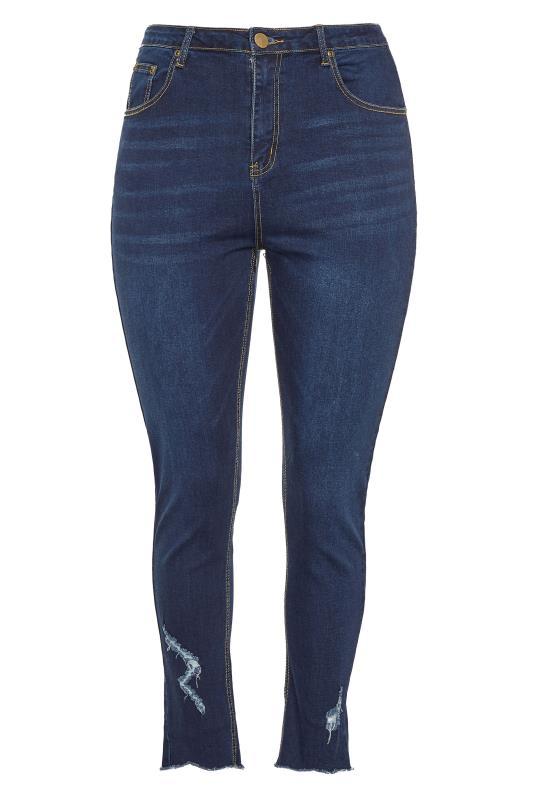 Indigo Blue Distressed Skinny Stretch AVA Jeans