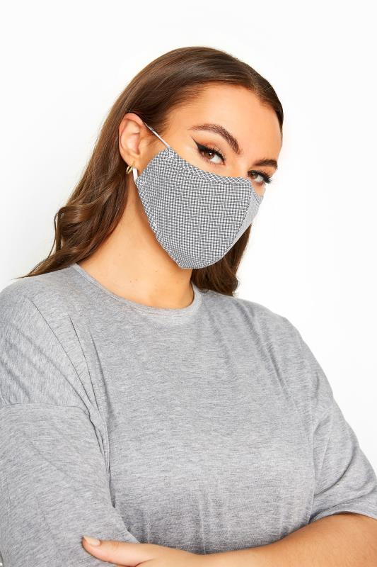 Plus Size  Black Check Antibacterial Face Mask