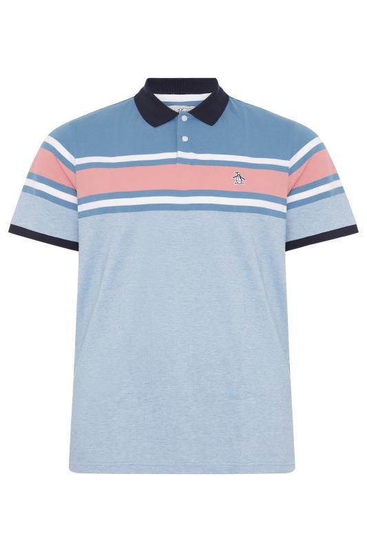 Plus Size  PENGUIN MUNSINGWEAR Blue Stripe Polo Shirt