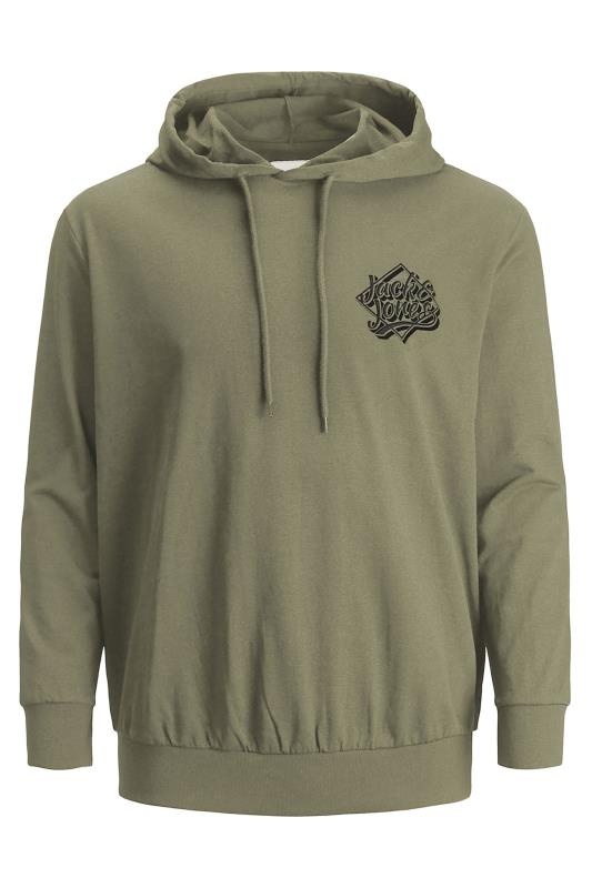 JACK & JONES Khaki Brad Logo Hoodie