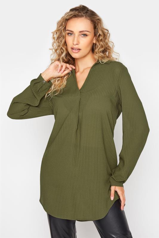LTS Khaki Textured Overhead Shirt_A.jpg