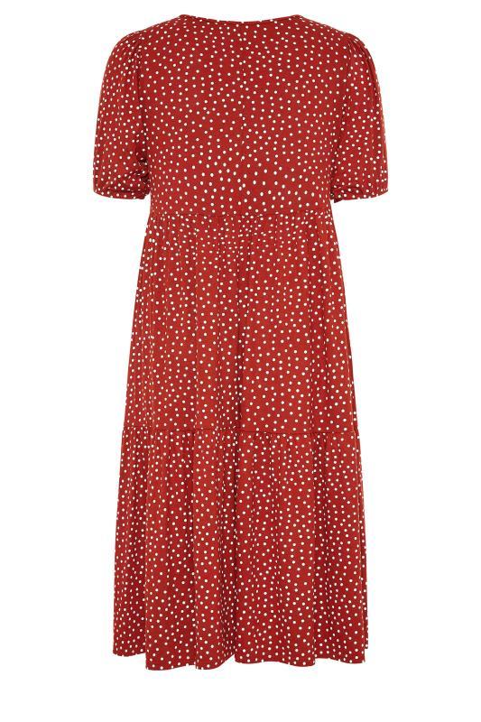 Rust Spot Print Puff Sleeve Midaxi Dress_BK.jpg
