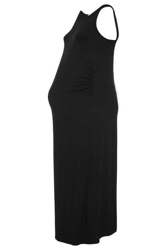 BUMP IT UP MATERNITY Black Sleeveless Maxi Dress_F.jpg