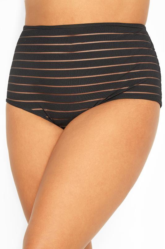 Black Mesh Sheer Stripe High Waisted Briefs_A.jpg