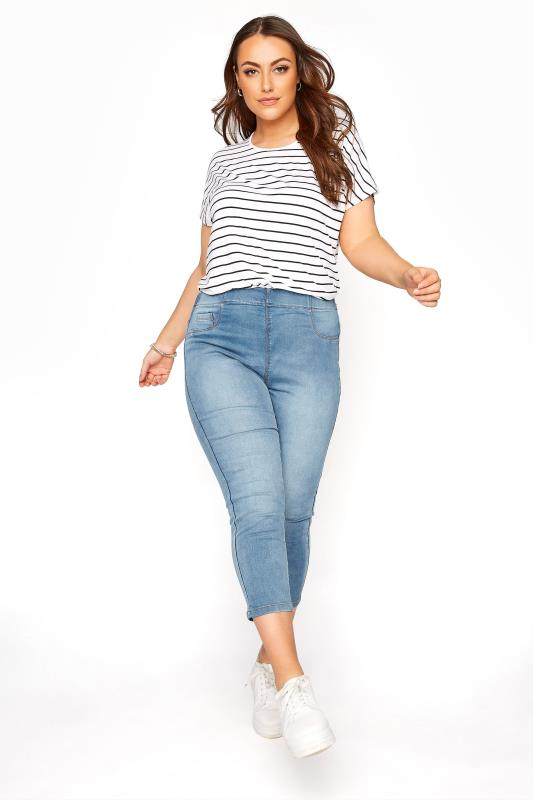 Plus Size  Light Blue Cropped JENNY Jeggings