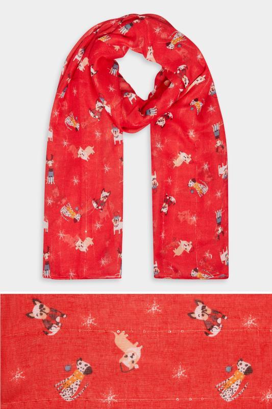 Red Sequin Christmas Novelty Dog Scarf_split.jpg