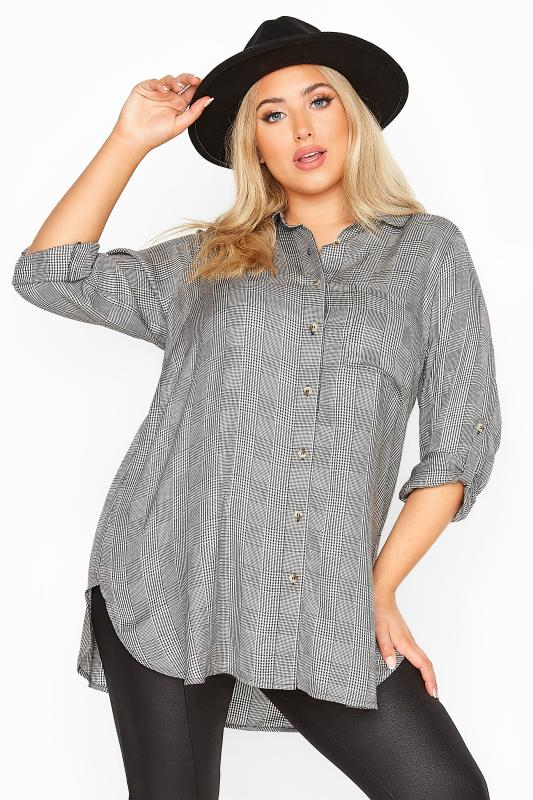 LIMITED COLLECTION Black Belted Dogtooth Check Shirt