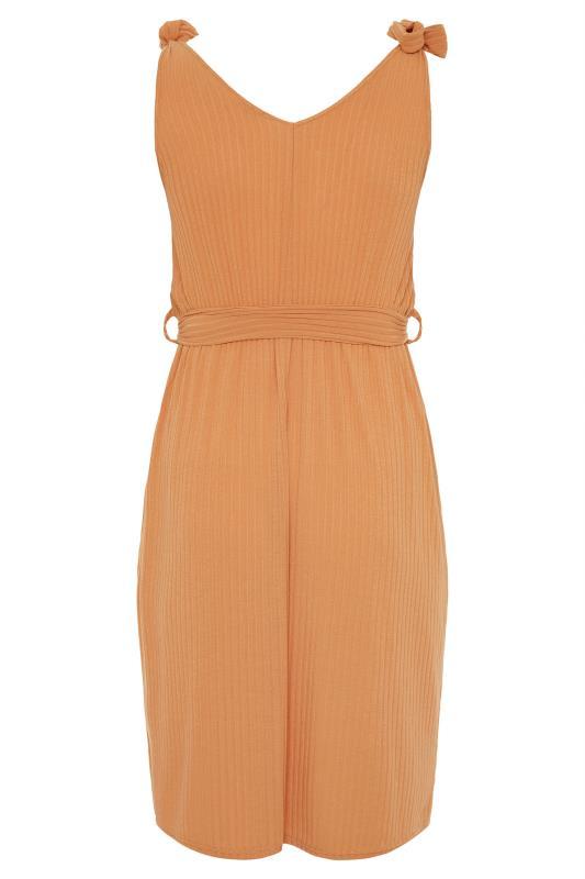 YOURS LONDON Natural Rib Belted Bow Shoulder Dress_BK.jpg