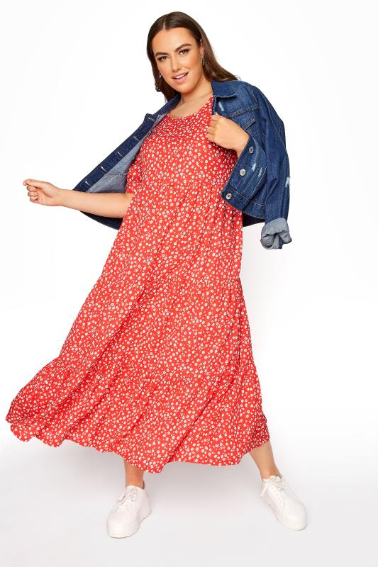 LIMITED COLLECTION Red Daisy Print Tiered Maxi Dress_G.jpg
