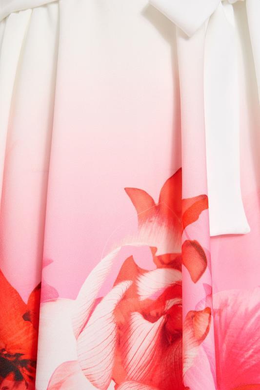 YOURS LONDON Pink Border Floral Skater Dress_S.jpg
