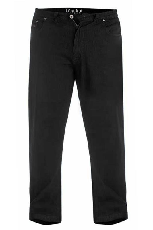 Men's  D555 Black Relaxed Fit Jeans