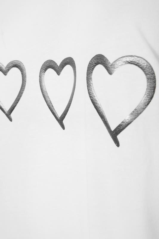 White Studded Laser Cut Cold Shoulder Foil Print Top_S.jpg