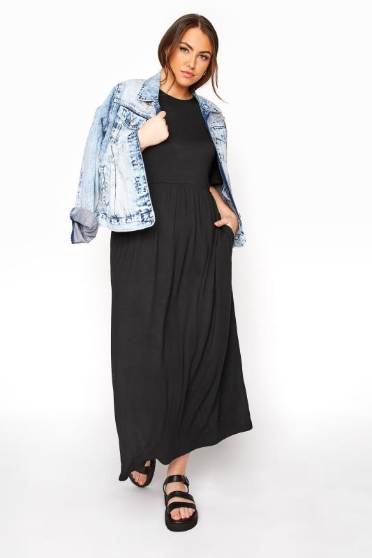 LIMITED COLLECTION Black Throw On Maxi Dress_B.jpg