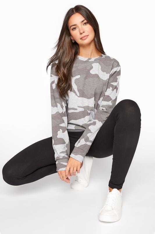 Tall  LTS Grey Camo Sweatshirt