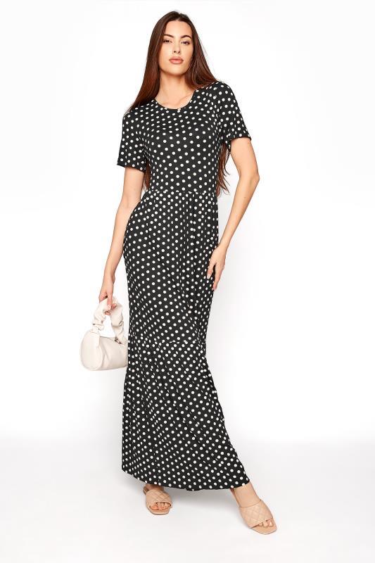LTS Black Spot Tiered Maxi Dress