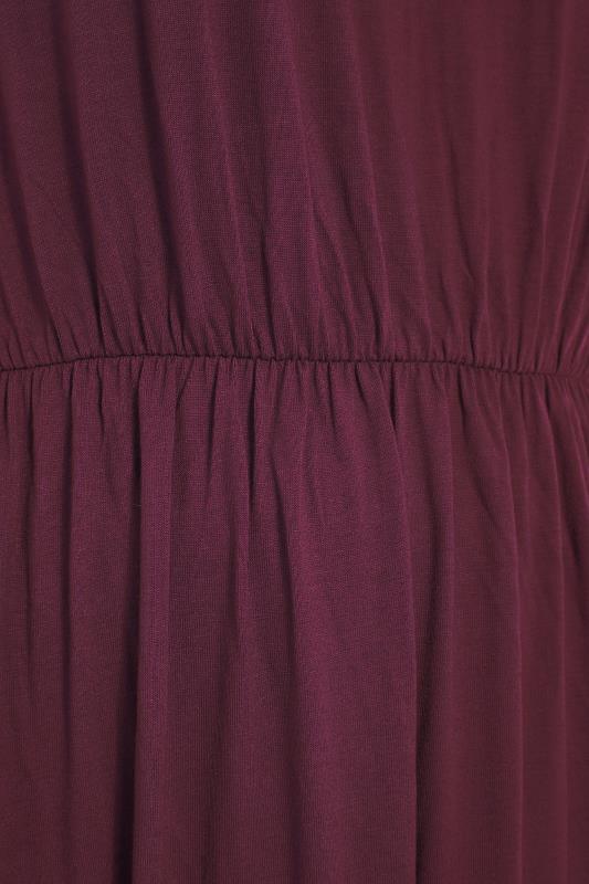 YOURS LONDON Burgundy Pocket Maxi Dress_S.jpg