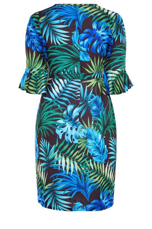 YOURS LONDON Black Tropical Wrap Dress_BK.jpg