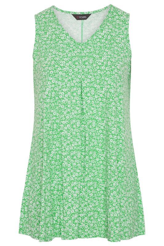 Plus Size  Green Daisy Swing Vest