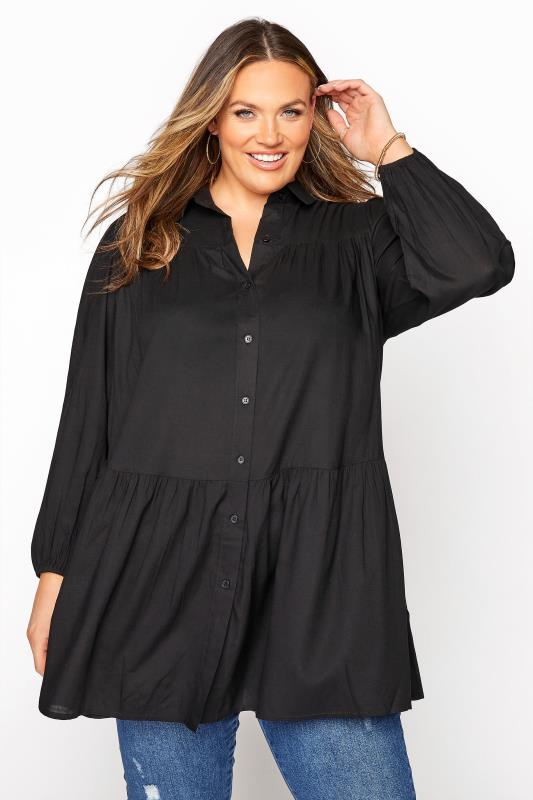 Black Smock Tiered Tunic Blouse_A.jpg
