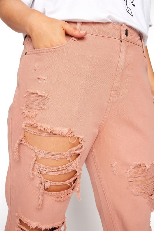 Blush Pink Extreme Distressed MOM Jeans_D.jpg