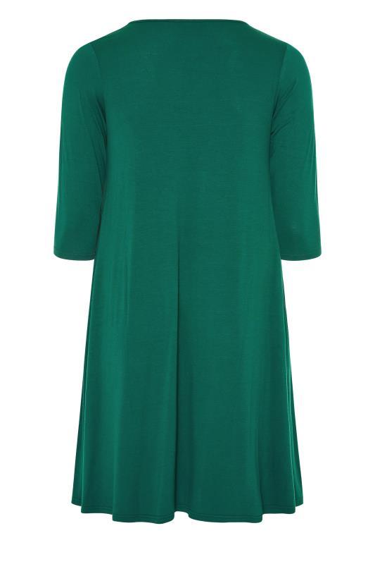Forest Green Drape Pocket Dress_BK.jpg