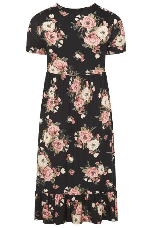 LIMITED COLLECTION Blush Rose Floral Tiered Midaxi Smock Dress_BK.jpg