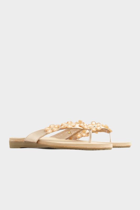 Rose Gold Flower Gem Sandals in Regular Fit_C.jpg