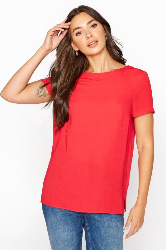 LTS Coral Woven T-Shirt