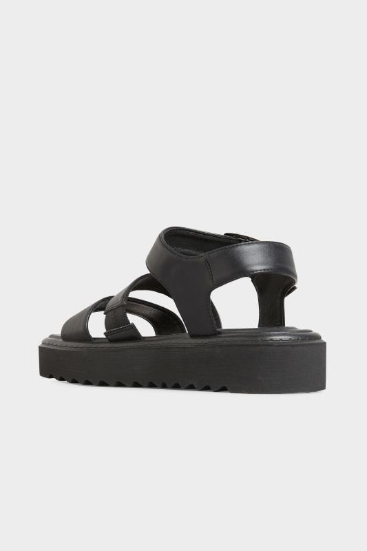 LIMITED COLLECTION Black Chunky Strap Sandals In Extra Wide Fit_C.jpg