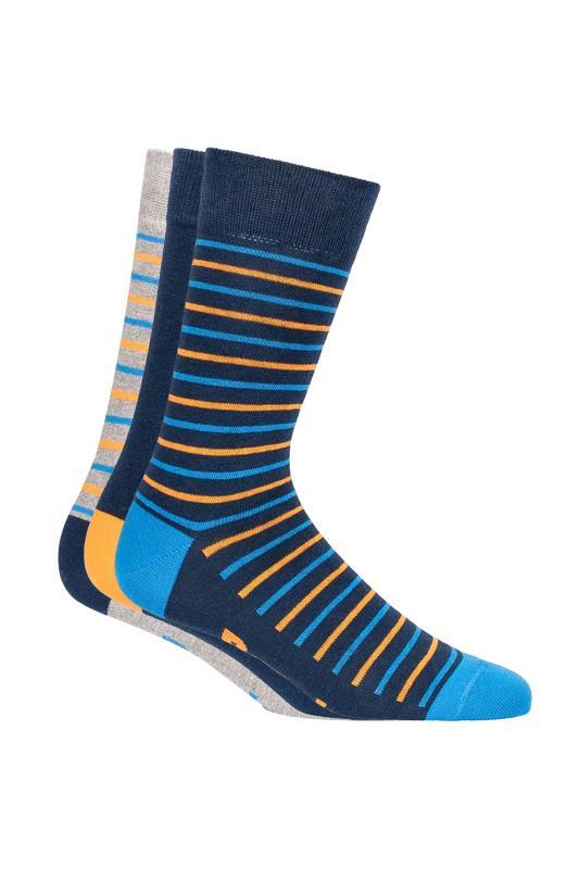 BENCH 3 PACK Multi Stripe Hermes Crew Socks