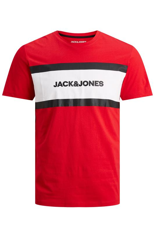 JACK & JONES Red Shaker T-Shirt