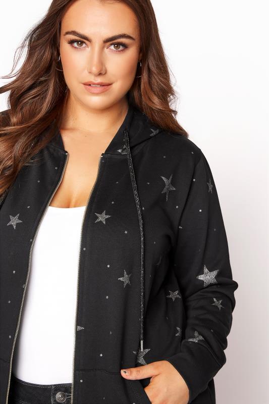 Black Star Print Zip Through Hoodie_D.jpg