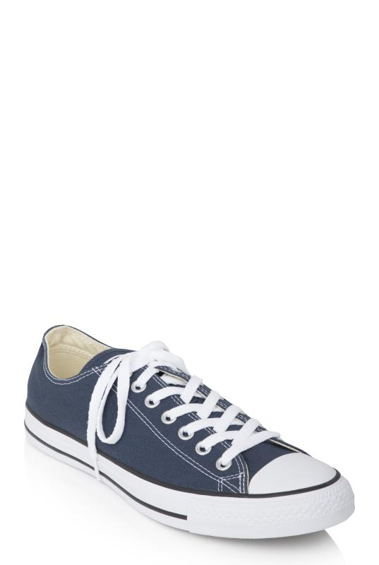 Tall Lace Ups Navy Converse Chuck Taylor All Star Ox Trainer