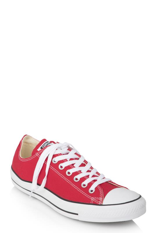 Tall Lace Ups Red Chuck Taylor All Star Ox Trainer