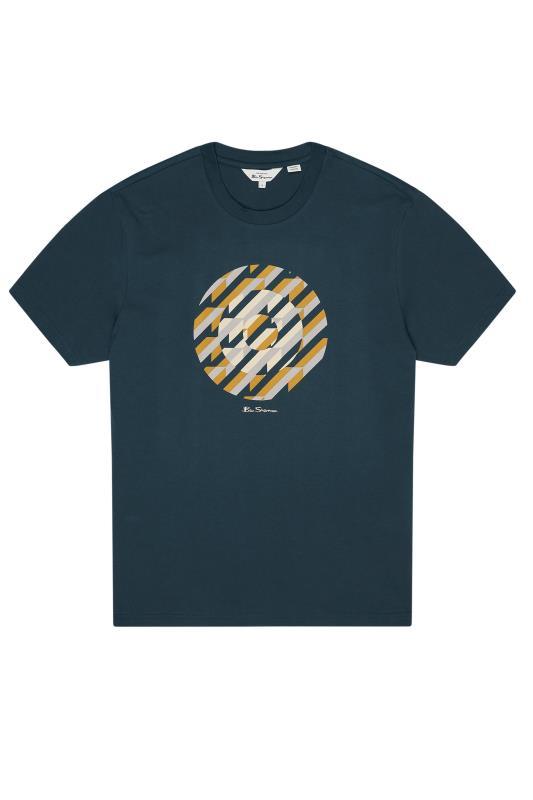 Plus Size  BEN SHERMAN Navy Abstract Target Graphic Print T-Shirt