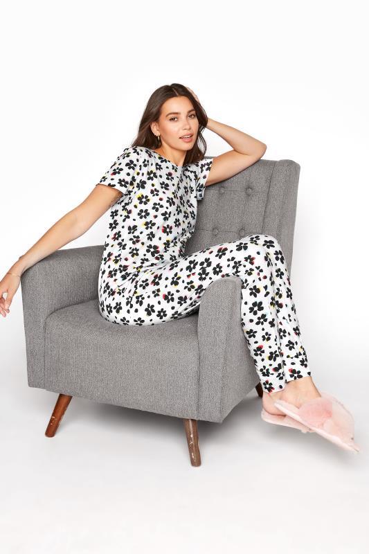 Tall  LTS White Floral Pyjama Set