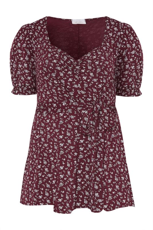 Tallas Grandes YOURS LONDON Purple Ditsy Sweetheart Top