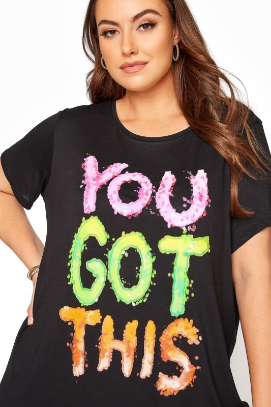 Black Sequin 'You Got This' Slogan T-Shirt_D.jpg