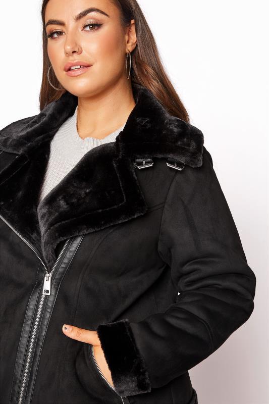 Black Faux Fur Trim Aviator Jacket_RD.jpg