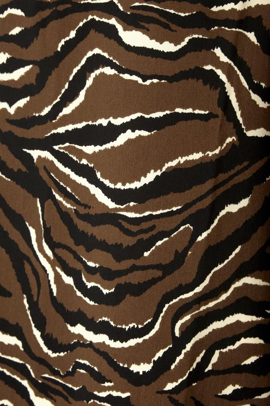 LTS Brown Zebra Print Balloon Sleeve Chiffon Blouse_S.jpg
