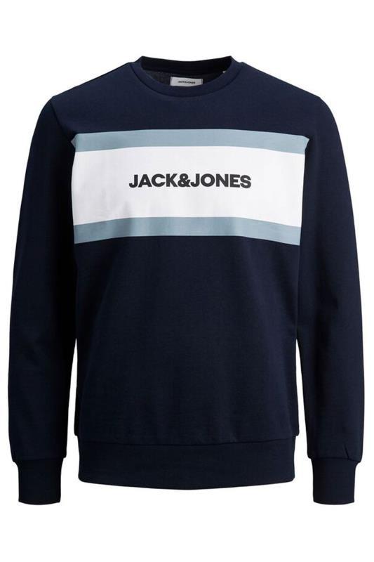 Men's  JACK & JONES Navy Shake Crew Sweatshirt
